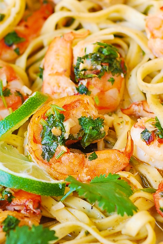 healthy pasta, light pasta, easy pasta recipes, simple pasta ideas, shrimp pasta