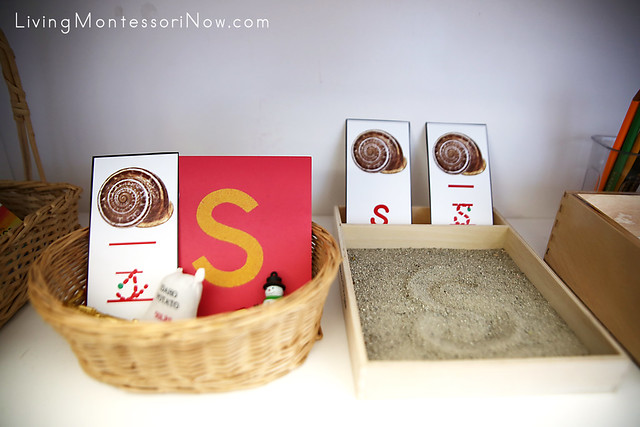 Letter S Basket and Sand Tray