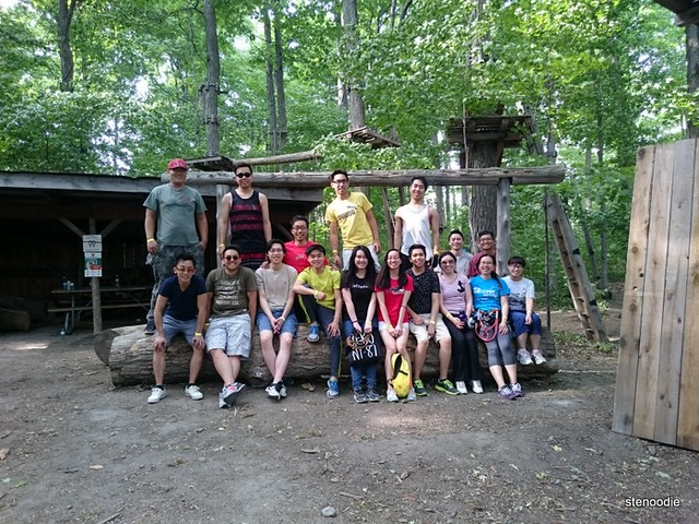 treetop trekking group photo Stouffville