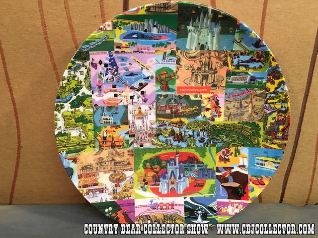 "2014 Walt Disney World Magic Kingdom Map 7"" Plate - Country Bear Jamboree Collector Show #053"