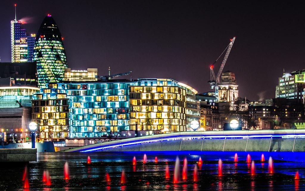 More London lava lights