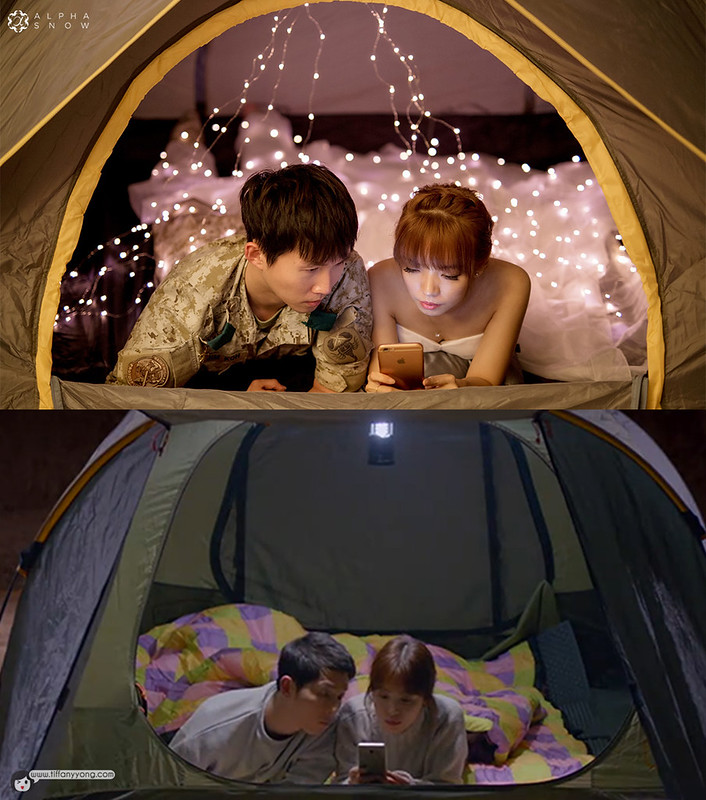 Descendants of the Sun Bridal Ep16 Tent Scene Hotels Combined