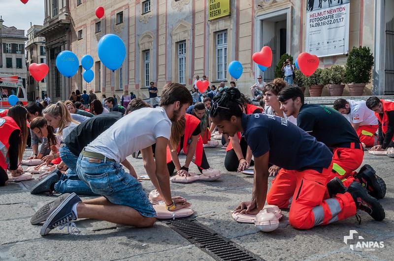 Il flash mob a Genova