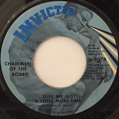 CHAIRMEN OF THE BOARD:GIVE ME JUST A LITTLE MORE TIME(LABEL SIDE-A)