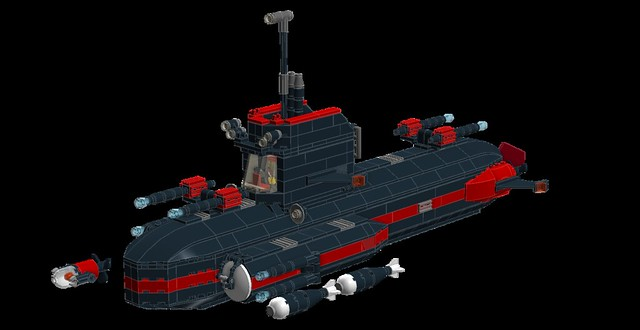 FNS Black Pearl, Fusion Powered Sub MOC (LDD) 29446949266_effd656a46_z