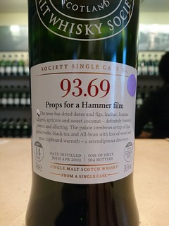 SMWS 93.69 - Props for a Hammer film