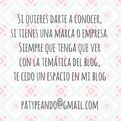 date a conocer en mi blog