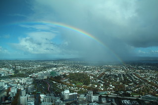 Rainbow from Sky Tower