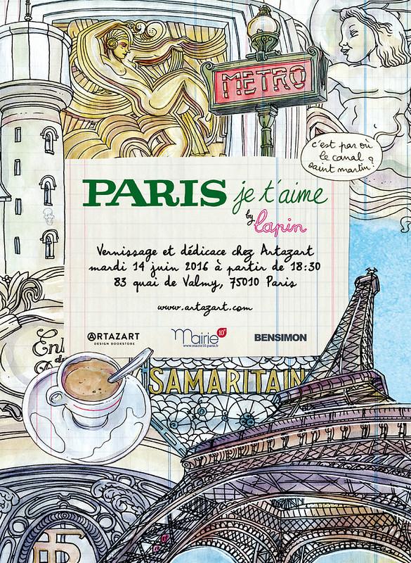"""""""paris, je t'aime"""" dédicace et vernissage"""