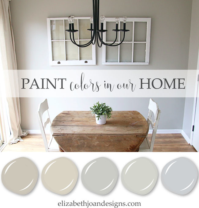 Paint Colors In Our Home: The City House - ELIZABETH JOAN DESIGNS