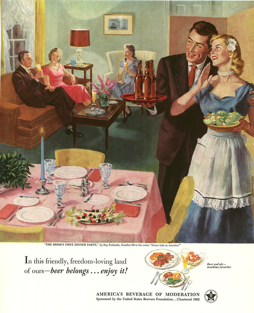 066. The Bride's First Dinner Party by Ray Prohaska, 1952