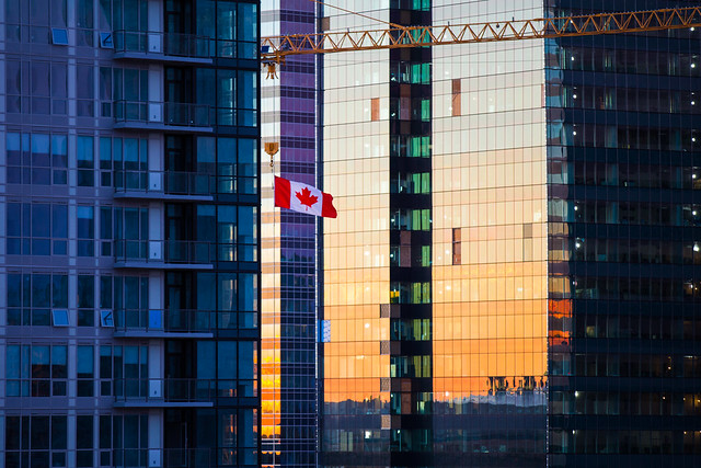 Flying the flag over downtown Edmonton