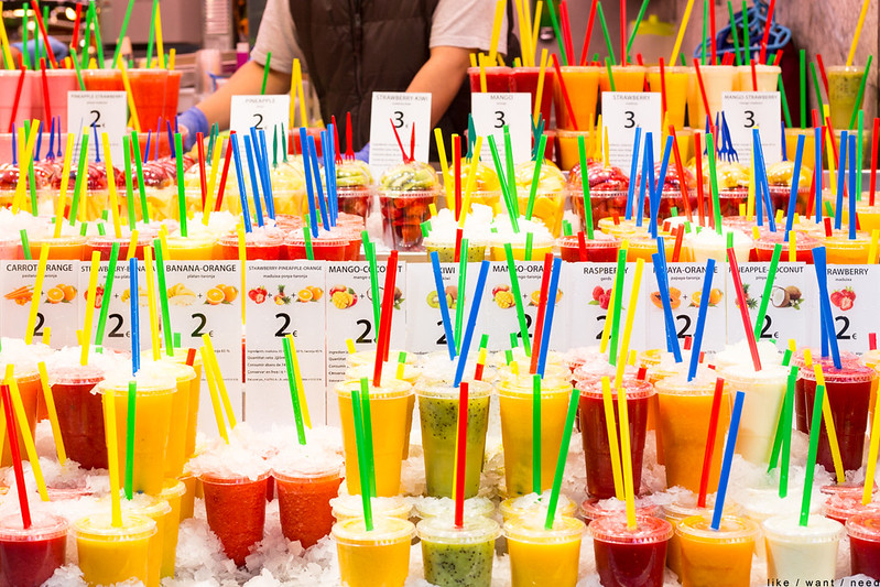 Fresh Fruit Juices, Mercado de La Boqueria
