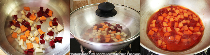 Hot to make Carrot Potato Beetroot Puree for Babies - Step3