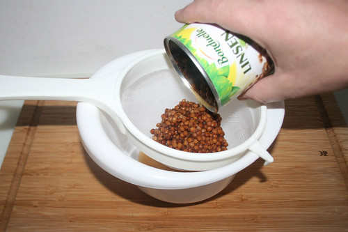 13 - Linsen abtropfen lassen / Let drain lentils