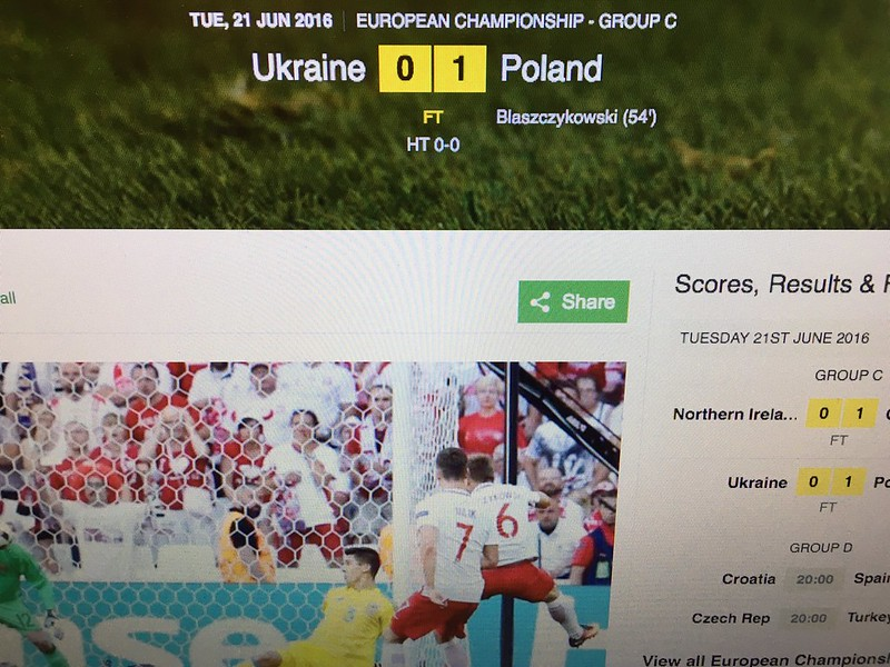 Ukraine 0 - 1 Poland