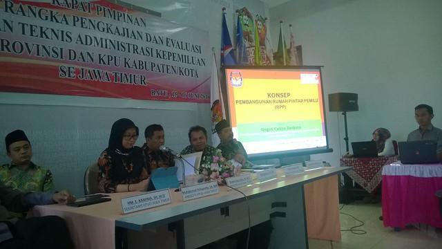 Suasana Rapim KPU Kab/Kota se-Jawa Timur (15/6)