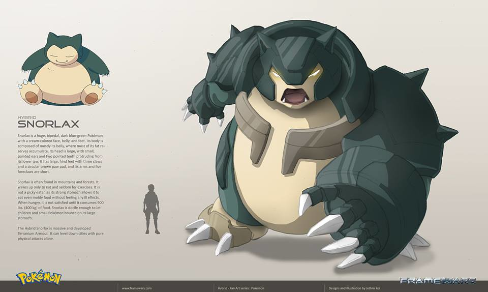 Metal Hybrid Pokemon - Snorlax - by Frame Wars