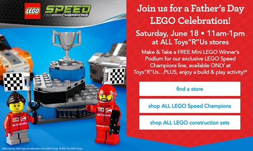 LEGO Speed Champions Toys R Us June 18 Building Event