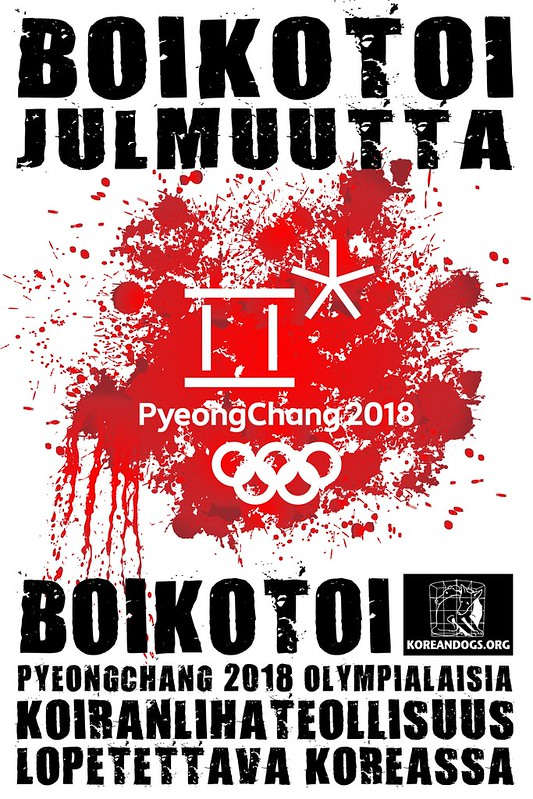 Boycott Pyeongchang 2018 in Finnish