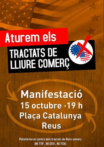 Manifestació contra CETA i TTIP a Reus