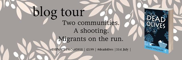 Dead Olives blog tour banner
