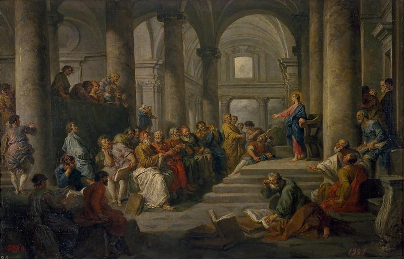 Giovanni Paolo Panini - Gesù tra i dottori (c.1725)