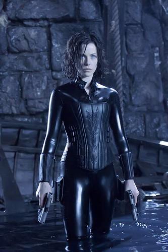 Kate as Selene the vampire in Underworld