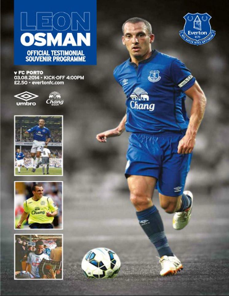 Match programme - Everton v FC Porto - Sunday 3rd August 2014
