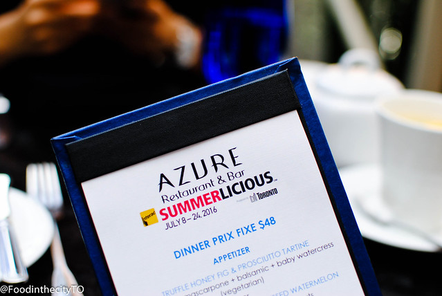 Summerlicious 2016 at Azure