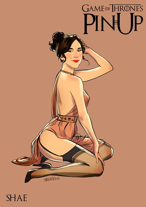 Risqué Game of Thrones pin-up girls by Andrew Tarusov - Shae