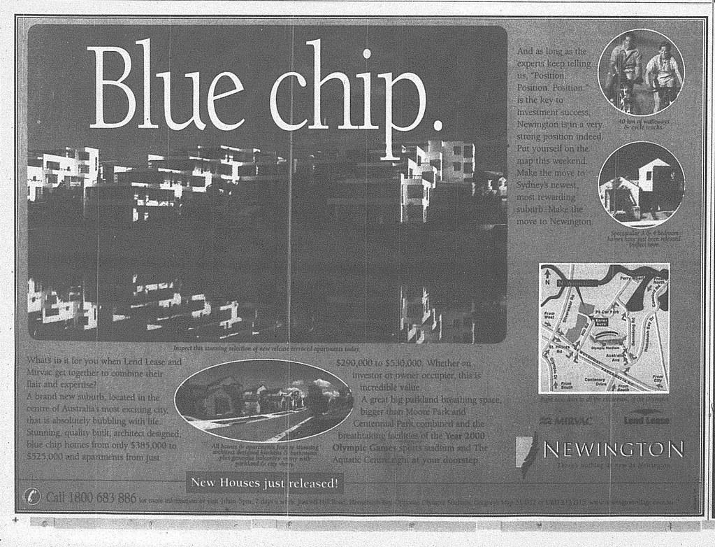 Newington Ad June 5 1999 SMH 22RE