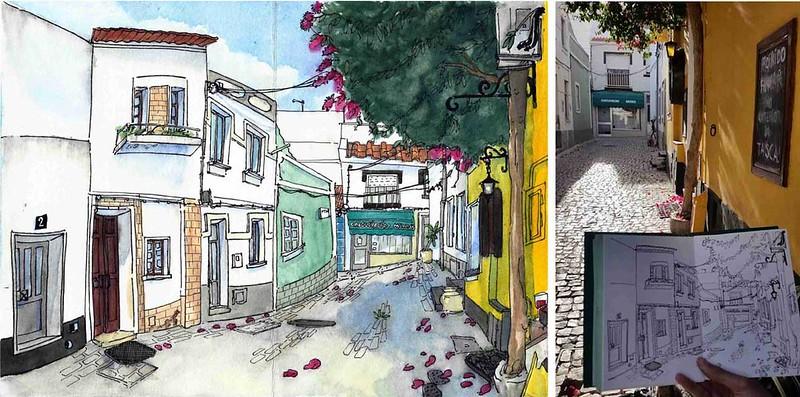 """Rua do bar """"Porta Velha"""" - Portimão"""