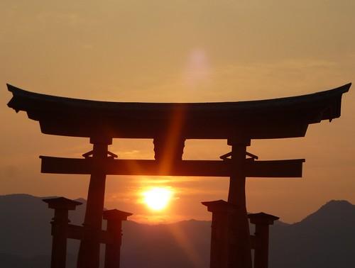 jp16-Myajima-Torii-coucher du soleil  (10)