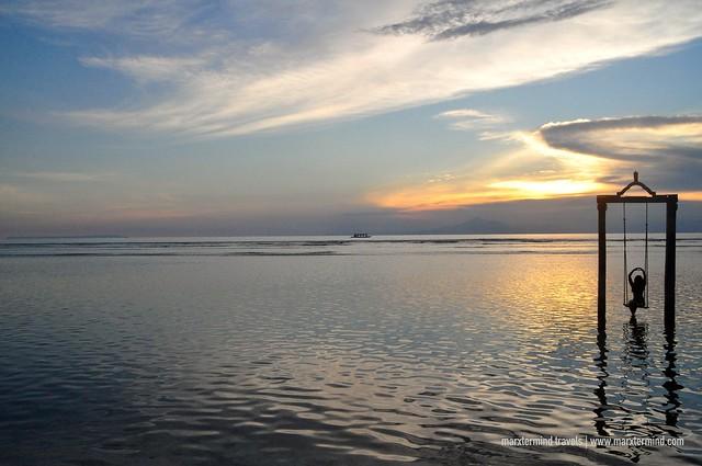 Sunset at Hotel Ombak Sunset Datu Swing