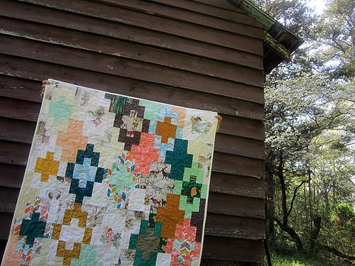 Woodland baby quilt