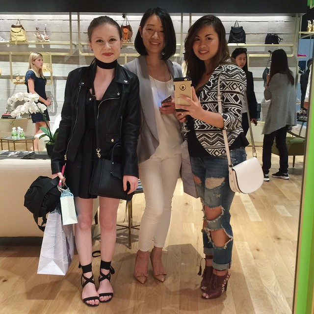 At Sam Edelman. Thanks to Thu of Justtututiny for this picture with Bitsy of Bits of Style.