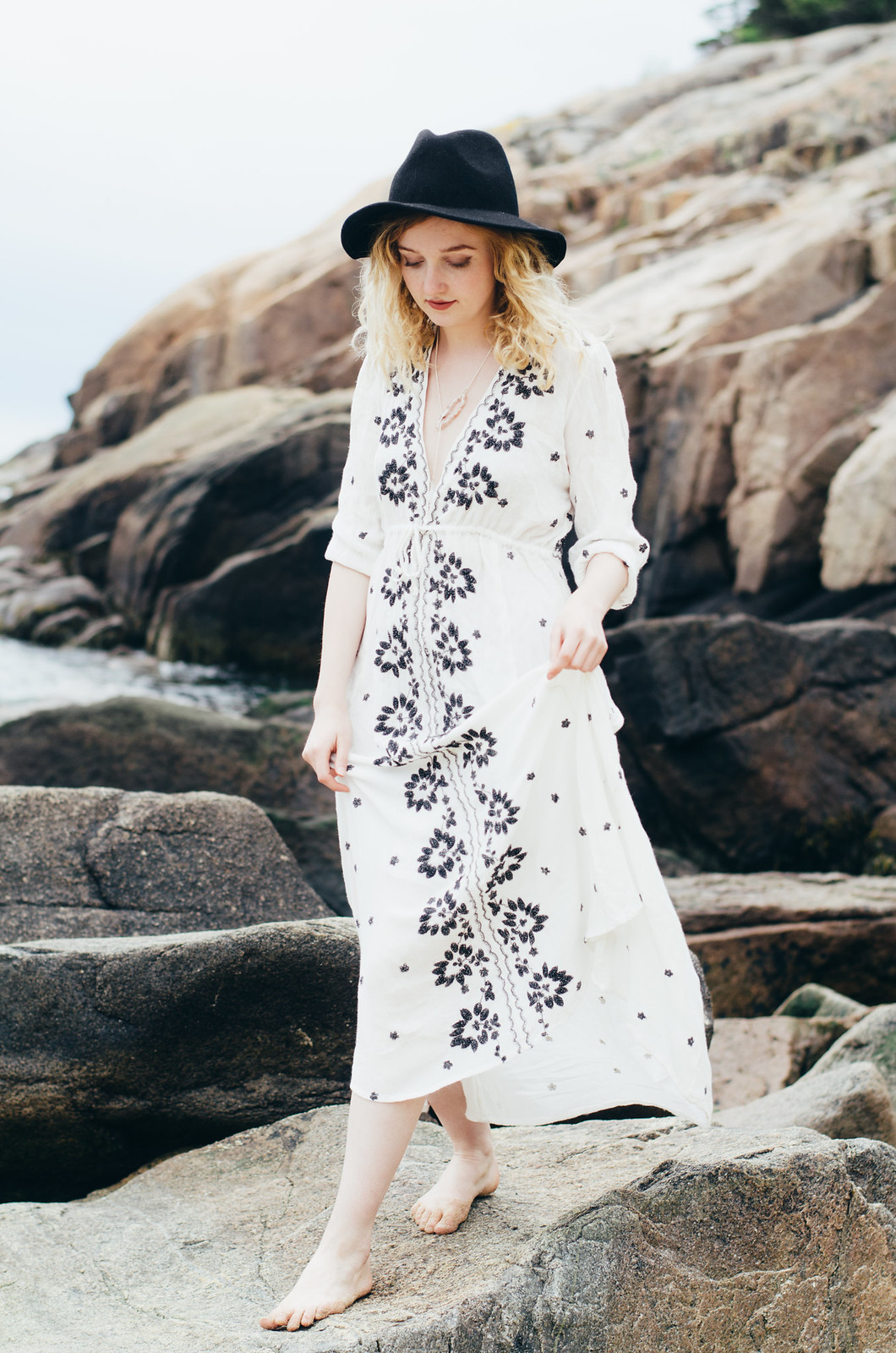 Free People Dress in Acadia Maine shot by Andrew Dion on juliettelaura.blogspot.com