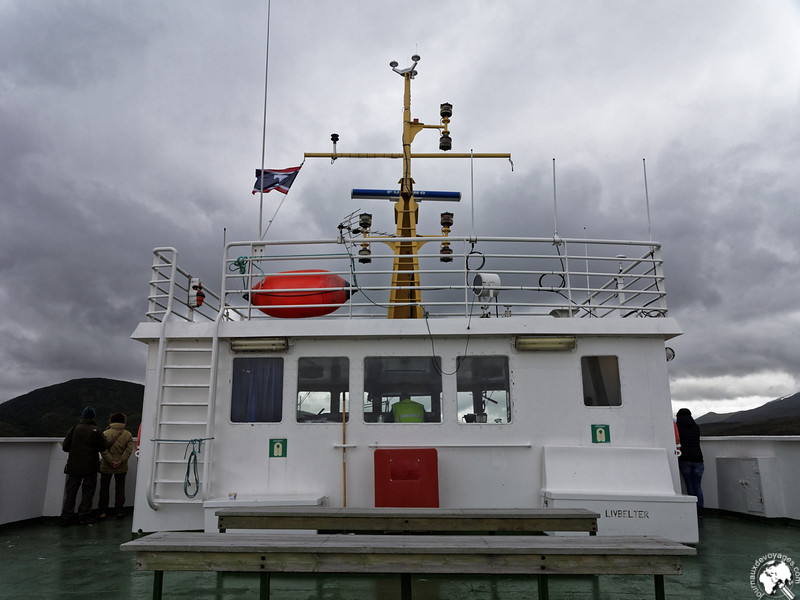 La cabine de commandement du ferry