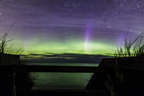 Aurora over Lake Superior on M28