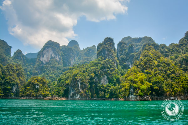 emerald water of Khao Sok National Park Thailand