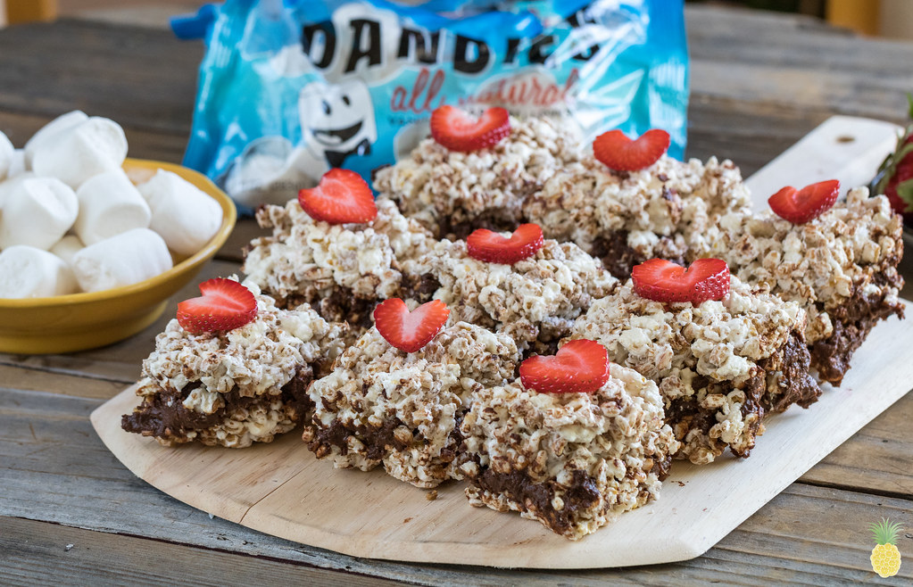 Popcorn Krispies S'mores w/ Sweet Potato & Black Bean Fudge {oil-free} sweetsimplevegan.com