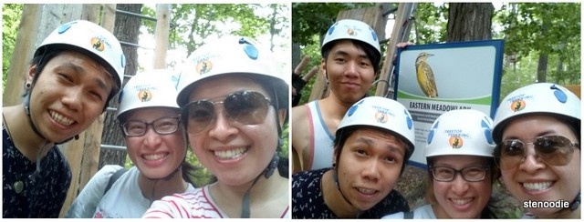 treetop trekking Stouffville selfies