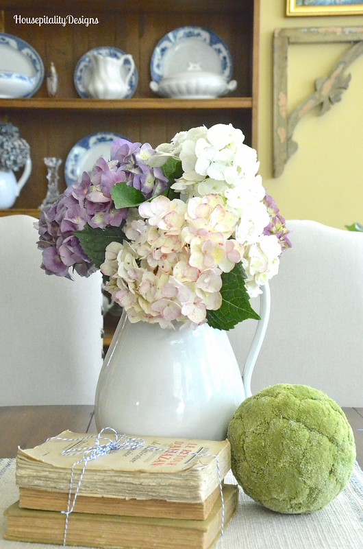 Ironstone Pitcher with Hydrangeas - Housepitality Designs