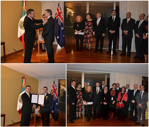 Otorgamiento del Águila Azteca al Cónsul Honorario de México en Melbourne
