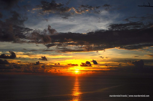 Beautiful Sunset at Uluwatu Temple Bali