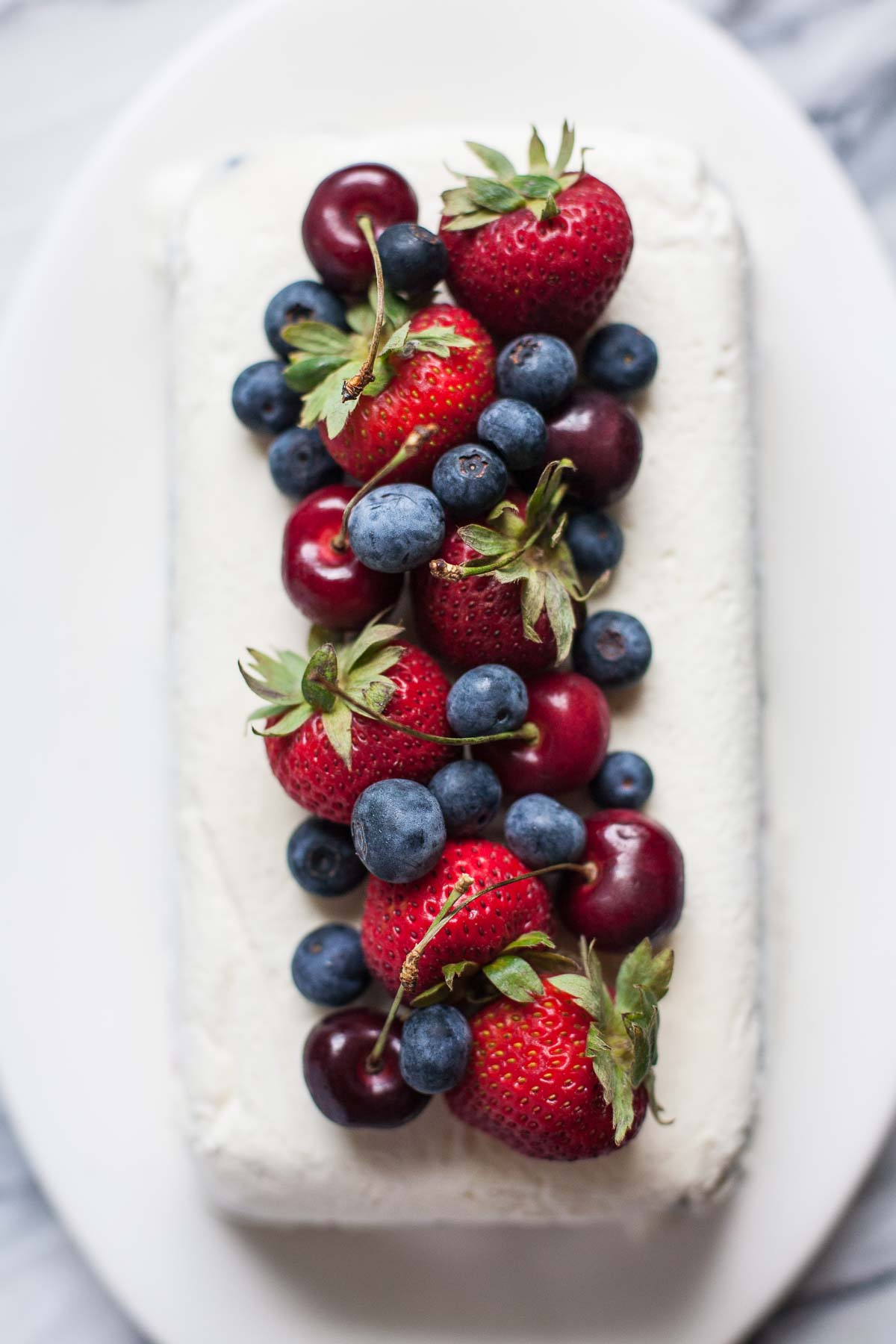 Cherry Berry Ice Cream Loaf
