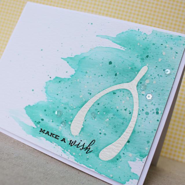 Watercolor Make A Wish Close Up