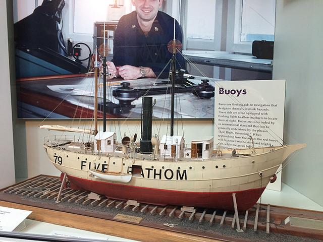 Five Fathom Bank lightship model