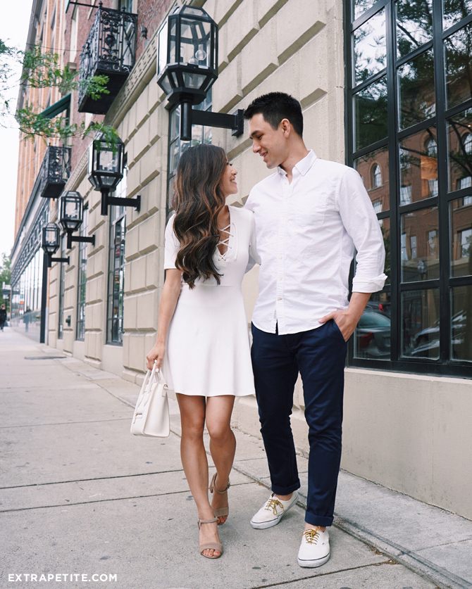 lace up white dress outfit_couples summer style